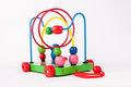 Early child development wooden toys  on white Stock Image