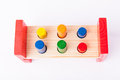 Early child development wooden toys  on white Stock Images