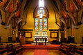 Early english gothic chapel interior of all souls utilizing enlish architecture located in rochester ny Stock Photos