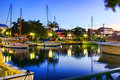 Early evening at the wharf in Bridgetown, Barbados Royalty Free Stock Photo