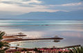 Early morning at Dead Sea. Royalty Free Stock Photo