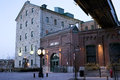 Early Morning in the Distillery District - Toronto, ON Royalty Free Stock Photo