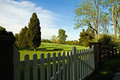 Early Morning Fence Stock Images