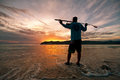 Early morning fisherman Royalty Free Stock Photo