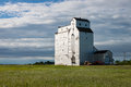 Early Morning Grain Elevator in Canadian Prairie Royalty Free Stock Photo