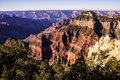 Early morning light on eroded ridges above the colorado river north rim grand canyon national park arizona Royalty Free Stock Image
