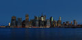 Early morning new york city skyline panorama manhattan Royalty Free Stock Photography