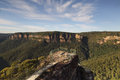 Early morning at Pulpit Rock Blue Mountains Australia Royalty Free Stock Photo