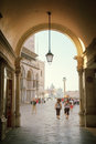 Early morning san marco square in venice italy Stock Photos