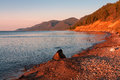 Early morning on the southern baikal Royalty Free Stock Photo