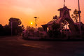 Early morning sunrise view from martyr s gate seen the saheed or martyrs of nepal in the Royalty Free Stock Photo
