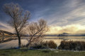 Early spring - Pchelina dam, Bulgaria Royalty Free Stock Photo