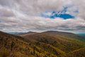 Early spring view of  the Blue Ridge Mountains and Piedmont,in Shenandoah National Park, Virginia. Royalty Free Stock Photo
