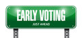 Early voting road sign illustration design over a white background Royalty Free Stock Photography
