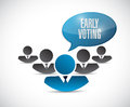 Early voting teamwork illustration design over a white background Stock Photos