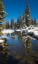 Early winter in Uinta Mountains - Lakes Stock Photos