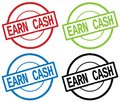 EARN CASH text, on round simple stamp sign. Royalty Free Stock Photo