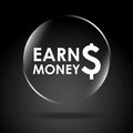 Earn money over black background vector illustration Stock Images
