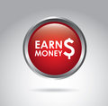 Earn money over gray background vector illustration Stock Photography