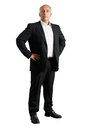 Earnest business man over white background Royalty Free Stock Images