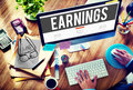 Earning Economy Finance Income Money Salary Concept Royalty Free Stock Photo