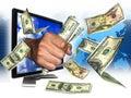 image photo : Earning internet money