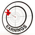Earnings shows prosperity career revenue and income showing Royalty Free Stock Photo