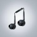 Earphone in musical note shape