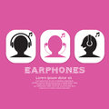 Earphones icon vector illustration eps Royalty Free Stock Photography