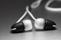 Earphones a photograph of pair of Royalty Free Stock Photo