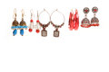 Earrings isolated fashion jewelery set Royalty Free Stock Photo