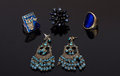 Earrings and rings for woman Royalty Free Stock Photo