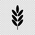 Ears of wheat, cereal. Ear of oats. rye ears. Vector icon illustration Royalty Free Stock Photo