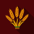 Ears of Wheat icon of vector illustration for web and mobile