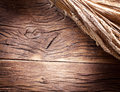 Ears of wheat on old table wooden Stock Photos