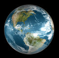 Earth on black Royalty Free Stock Photography