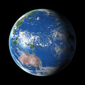 Earth on black background Royalty Free Stock Images