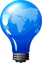 Earth bulb - eco energy concept Royalty Free Stock Images