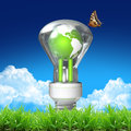 Earth bulb for green earth Royalty Free Stock Photo