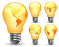 Earth bulbs Royalty Free Stock Photo