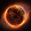 Earth burning after a global disaster elements of this d rendered image furnished by nasa Stock Photos