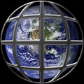 Earth in cage Royalty Free Stock Image