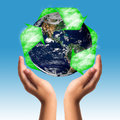 Earth care with helping hands concept elements of this image furnished by nasa Stock Image