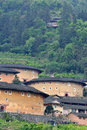 The earth castle of hakka in fujian south of china whcih has over one thousand years history originally for people protect Stock Photography