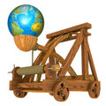 Earth and catapult Royalty Free Stock Photo