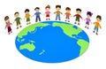 Earth Children Stock Image