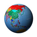 The Earth in china Royalty Free Stock Photos