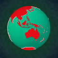 Earth continental view Australia