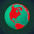 Earth continental view North America