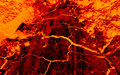 Earth Cracks Hot Lava